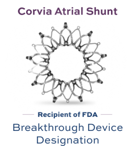 Corvia Atrial Shunt - Recipient of FDA Breakthough Device Designation